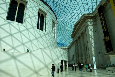 museum visit: People visit the British Museum. Museum of human history and culture. London, UK Editorial
