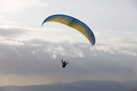 Paragliding Cross-country Portuguese League, in the north of Portugal, December 17, 2011, Caldelas, Portugal. Stock Photo - 11719719