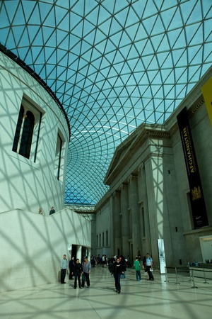 the british museum: People visit the British Museum. Museum of human history and culture. London, UK Editorial