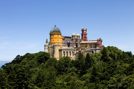 Famous palace of Pena in Sintra, Portugal photo