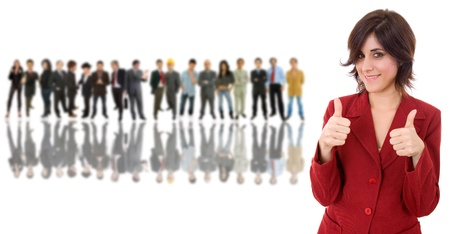 사람들의 그룹의 앞에 비즈니스 여자 스톡 콘텐츠 - 11943996