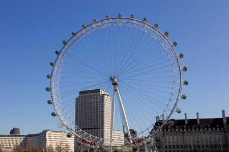 eye  traveller: the london eye and the thames river in london, UK