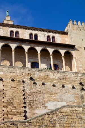Part of Mallorca cathedral, in Palma de Mallorca, Spain photo