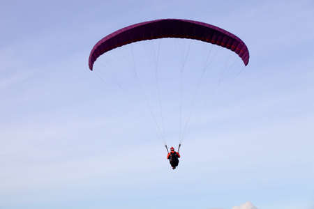 Paragliding Cross-country Portuguese League, in the north of Portugal, December 17, 2011, Caldelas, Portugal. Stock Photo - 12074044