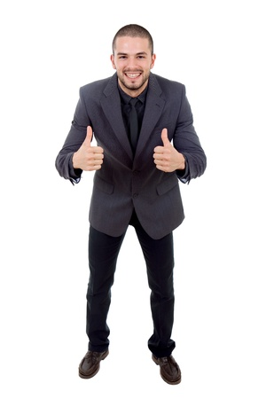 young business man going thumbs up, isolated Stock Photo - 12083828