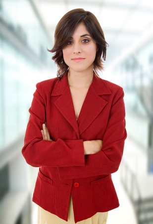 young business woman portrait at the office photo
