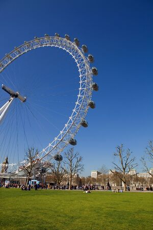the london eye or millennium wheel in london