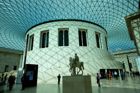 People visit the British Museum. Museum of human history and culture. London, UK Stock Photo - 12489279