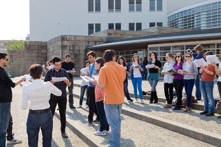 rehearsal: Actors rehearsal at UMinho, Uminho Actors Group rehearsal William Shakespeare