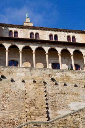 Part of Mallorca cathedral, in Palma de Mallorca, Spain photo