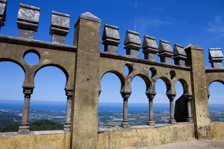 pena: Detail of Pena palace, in the village of Sintra, Lisbon, Portugal
