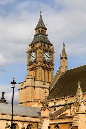 westminster: london, big ben clock at the westminster city Stock Photo