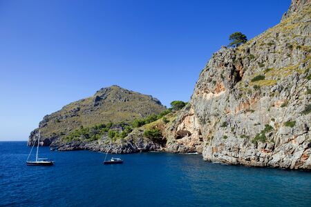 Mediterranean sea at the Coast of Mallorca, Spain photo