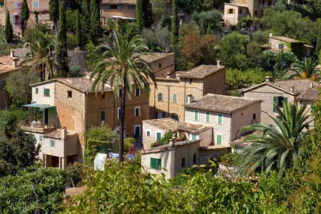 picturesque and historic village of Deia in the Tramuntana mountains, Mallorca, Spain