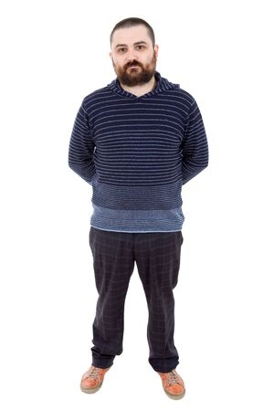 young casual man full body in a white background Stock Photo - 13689751
