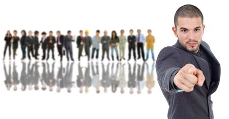 business man in front of a group of people Stock Photo - 13746612