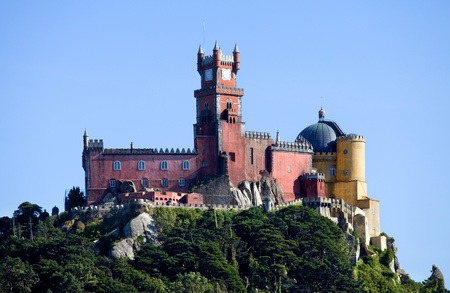 pena: Famous palace of Pena in Sintra, Portugal Editorial