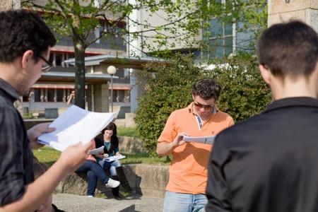 a rehearsal: Actors rehearsal at UMinho, Uminho Actors Group rehearsal William Shakespeare