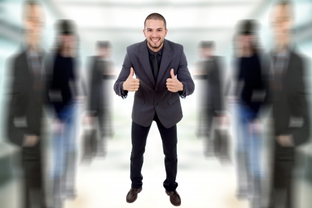 young business man going thumbs up Stock Photo - 13871713