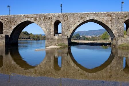 roman bridge of Ponte de Lima in Portugal photo