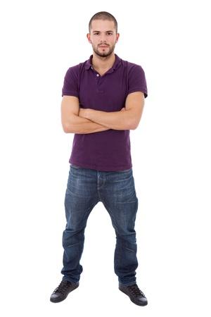 흰색 배경에서 젊은 캐주얼 남자 몸 전체 스톡 콘텐츠 - 13892153