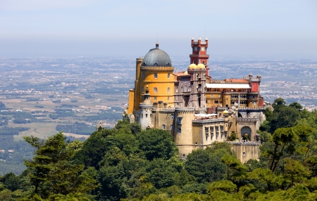 lisbon: Famous palace of Pena in Sintra, Portugal Stock Photo