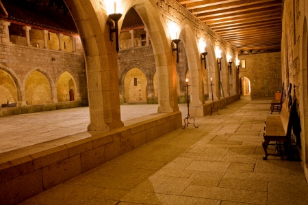 Interior view of Palace of Duques de Braganca, in Guimaraes, Portugal, north of the country. European Capital of Culture 2012