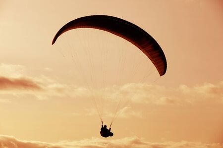 parapendio: Paragliding Cross-country Portuguese League, in the north of Portugal Stock Photo