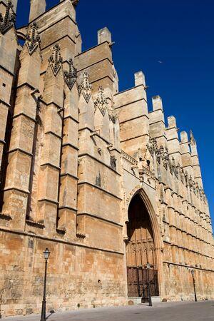 Detail of Mallorca cathedral, in Palma de Mallorca, Spain photo