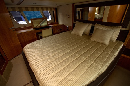 inside of a luxury boat, beautiful room interior