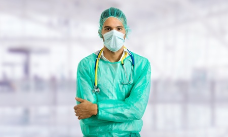 young male doctor at the hospital photo