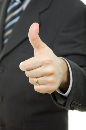 hand going thumb up, business man detail Stock Photo - 14585266
