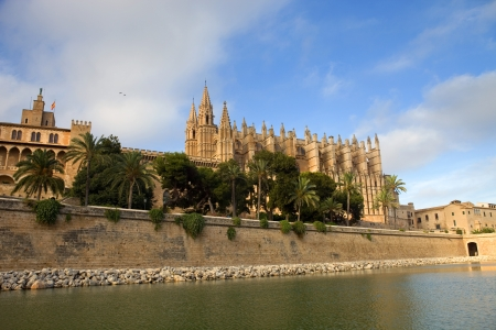 Mallorca cathedral, in Palma de Mallorca, Spain photo