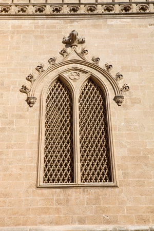 Detail of Mallorca cathedral, in Palma de Mallorca, Spain photo