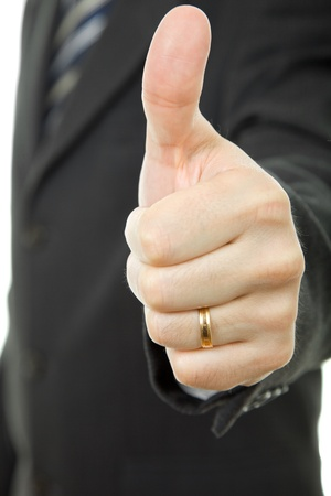 hand going thumb up, business man detail Stock Photo - 15171741