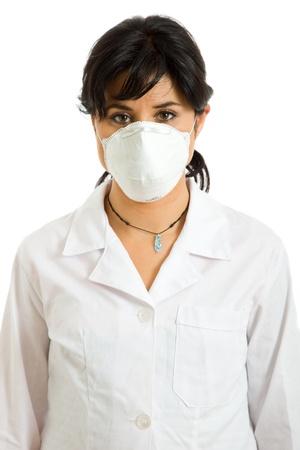young woman nurse portrait isolaetd Stock Photo - 15255430