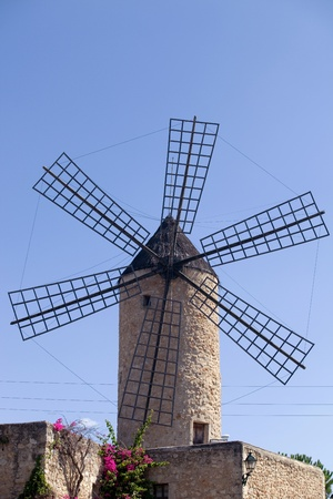 beautiful old windmill at Majorca island, Spain Stock Photo - 15255534