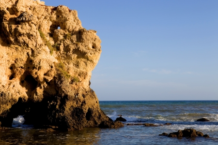 portuguese beach at Algarve, the south of the country photo