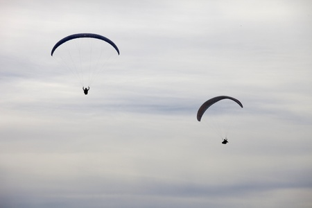 paradglider: Paragliding AbouaAboua Festival, in the north of Portugal, September 22, 2012, Caldelas, Portugal.