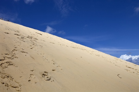 The Famous dune of Pyla, the highest sand dune in Europe, in Pyla Sur Mer, France  photo