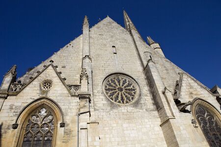 aquitaine: Niort ancient gothic church, Aquitaine, France Stock Photo