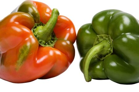 nonfat: two peppers isolated on white background Stock Photo
