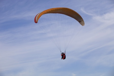 Paragliding Aboua Cup, in the north of Portugal, October 13, 2012, Caldelas, Portugal. Stock Photo - 16994226
