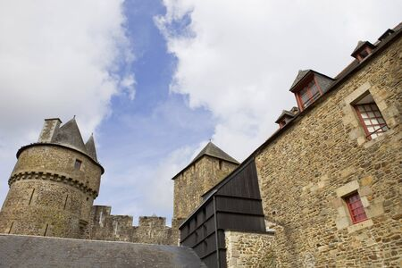 Castle of Fougeres in Brittany, north of France Stock Photo - 17025823