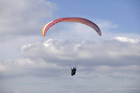 Paragliding Aboua Cup, in the north of Portugal, October 13, 2012, Caldelas, Portugal. Stock Photo - 17063298