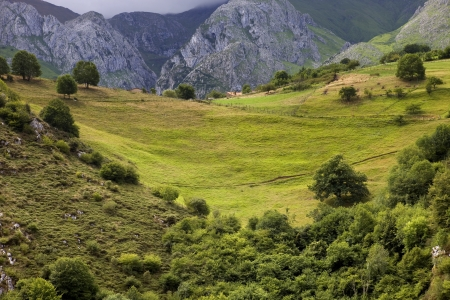 Mountains of Picos de Europa in the north of spain photo