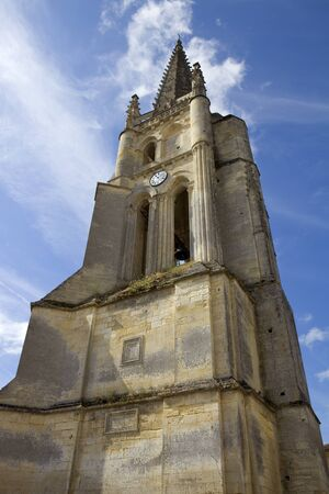 aquitaine: Saint Emilion ancient gothic church, Aquitaine, France