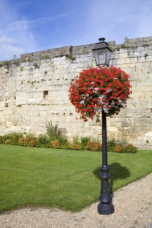 aquitaine: small garden at saint emilion, aquitaine, France