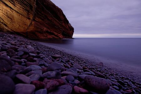 slow shutterspeed picture at the coast of Madeira, Portugal photo
