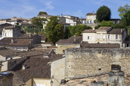 aquitaine: view of saint emilion, in aquitaine, france